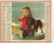 Calendrier Des Postes Almanach PTT 1975 Ed; Oberthur Version Morbihan - Calendars
