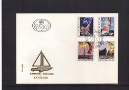 Jugoslawien / Yugoslavia / Yougoslavie 1985 Sport Michel 2115-18 FDC - Cartas