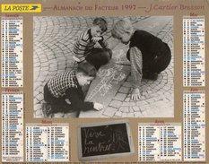 Calendrier Des Postes Almanach PTT 1997 Version Oise Photos J. Cartier Bresson - Calendriers