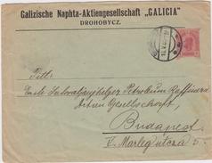 Österreich Privatganzsache PU 10 H Naphta AG Drohobycz Galizien 1905