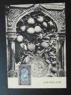 Carte Maximum Card Congrès Agrumiculture Fruit Orange Algerie 1954 - Algeria (1924-1962)