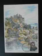 Carte Maximum Card Chateau Castle Beynac Et Cazenac 24 Dordogne 1957 - Castillos