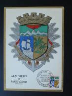 Carte Maximum Card Armoiries Coat Of Arm Volcan Volcano Réunion 1964 - Lettres & Documents