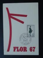Carte Postcard Floralies Salon De La Rose Orleans 1967