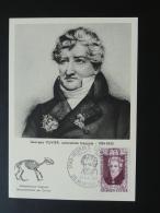 Carte Maximum Card Histoire Naturelle Prehistory Georges Cuvier Montbeliard 25 Doubs 1969 - Prehistorie