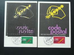 Carte Maximum Card (x2) Code Postal 1972 Reunion CFA - Réunion (1852-1975)