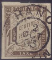 YT19 Taxe 10c Brun - Tonkin Hanoi