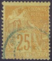YT53 Alphee Dubois Jaune 25c -Nouvelle Caledonie