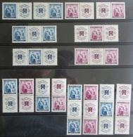 Böhmen Und Mähren 53-54 W Zd 1 - S Zd 8 Postfrisch Rotes Kreuz  Zusammendrucke