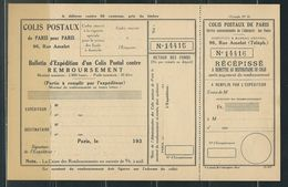 FRANCE Colis Postaux Paris Pour Paris N° 194 (*)