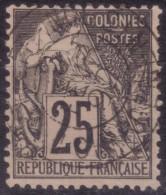 YT54 Alphee Dubois Noir 25c - Martinique Fort De France Chargements