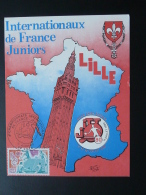 Carte Maximum Card Internationaux De France Tennis De Table Lille 1980