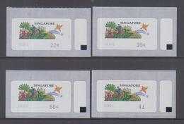 Singapore 1997 Frama Labels,Sunny Singapore Design 4v MNH
