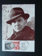 Carte Maximum Card Héros De La Resistance Jean Moulin 69 Villeurbanne 1981 - WW2