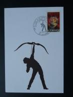Carte Postcard Tir à L'arc Archery 62 Lillers Pas De Calais 1982