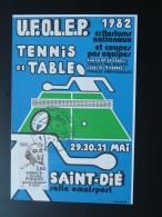 Carte Postcard Criterium Tennis De Table Saint-Die 88 Vosges 1982