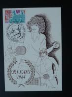 Carte Maximum Card Tennis De Table - Table Tennis Championnats De France Orléans 1984
