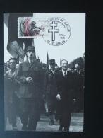 Carte Maximum Card Général De Gaulle St-Simon 02 Aisne 1985