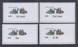 Singapore 2017 Skyline Postage Labels, 4 Basic Values MNH
