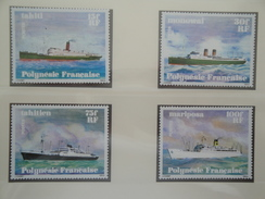 1978 Polynésie Française Yvert  124/7 ** Bateaux  Ships  Scott 307/10  Michel 268/71  SG 284/7 - Neufs