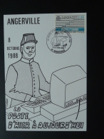 Carte Maximum Card Ordinateur Computer La Poste D'hier Et D'aujourd'hui 91 Angerville Essonne 1988 - Informatique