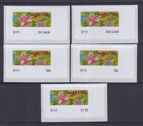 Singapore 2013 Garden In A City Postage Labels, 5v MNH - ATM - Frama (vignette)