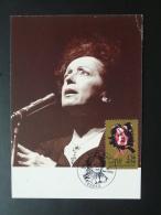 Carte Maximum Card Edith Piaf 1990