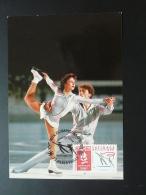 Carte Maximum Card JO Albertville 1992 Patinage Artistique Figure Skating 1990
