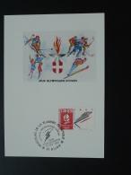 Carte Maximum Card Jeux Olympiques Olympic Games Albertville 1992 Dijon 1991