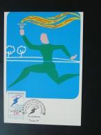 Carte Maximum Card Jeux Olympiques Olympic Games Albertville 1992 Flamme Olympique Paris 1991