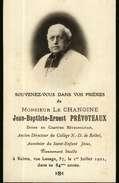 Image Religieuse Ou Pieuse - Avis De Décés  Monsieur Le Chanoine Jean-Baptiste-Ernest PREVOTEAUX à Reims En 1921