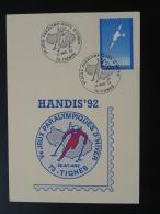 Carte Maximum Card Jeux Paralympiques Handisport Games Tignes 73 Savoie 1992