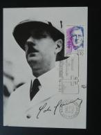 Carte Maximum Card Général De Gaulle Flamme Concordante Mémorial De Colombey 52 Haute Marne 1992