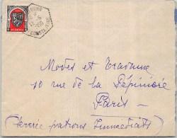 LETTRE AVEC PERLE HEXA AIN SEYNOUR CONSTANTINE 1950   FRANCE  COVER ALGERIE - Lettres & Documents