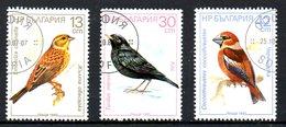 BULGARIE. 3 Timbres Oblitérés De 1987. Oiseaux Chanteurs.