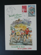Carte Postcard Cyclisme Cycling Tour De France 1999 St-Flour 15 Cantal