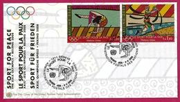 Nations Unies (Genève) (2008) -  Le Sport Pour La Paix / Sport For Peace. Jeux Olympiques été Pékin. Gymnastique, Tennis