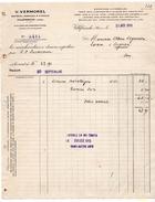 VILLEFRANCHE RHONE  MATERIEL AGRICOLE & VITICOLE  V VERMOREL  -   FACTURE 1911