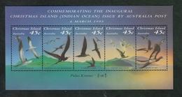 Christmas Island 1993 MUH Miniature Sheet - Seabirds Of The Island