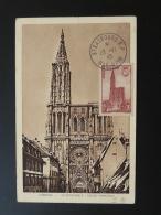 Carte Maximum Card Cathédrale De Strasbourg 1945 - Maximum Cards