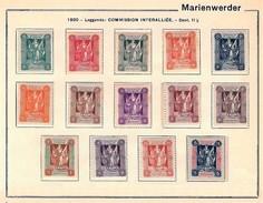 MARIENWERDER 1920 - Serie Completa Mailänder I (Commission Interalliée) - MH - Mi:DR-MW 1-14