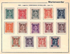 MARIENWERDER 1920 - Serie Completa Mailänder I (Commission Interalliée) - MH - Mi:DR-MW 1-14 - Germania