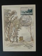 Carte Maximum Card Diligence Cheval Horse Mail Coach Journée Du Timbre 1952 Avignon