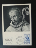 Carte Maximum Card Saint Bernard Croisade Abbaye De Citeaux 21 Cote D'Or 1953
