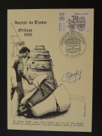 Carte Maximum Card Fonderie De Cloche Journée Du Timbre Orléans 1988