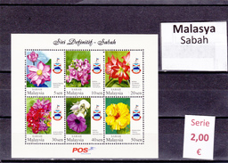 Malasia  Sultanatos-   Hoja Bloque  Nueva**  -  5/5089