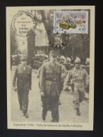 Carte Maximum Card Libération Visite Du General De Gaulle à Maiche 25 Doubs 1994