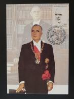 Carte Maximum Card Président Georges Pompidou 15 Saint Flour Cantal 1994