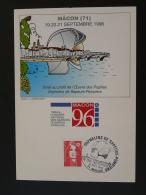 Carte Postcard Sapeurs Pompiers Firefighting Pont Bridge 71 Macon 1996