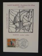 Carte Maximum Card Saint Martin Cheval Horse 69 Fontaine St Martin Rhone 1997